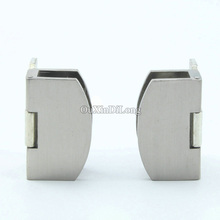 Express Shipping ! Wholesale 50PCS Glass Cabinet Door Hinges Display Wine Clamps Clips No Drilling