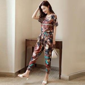 a896a824e17 Pritee Cryshoes Women s Suit Summer Two Piece Set Pants