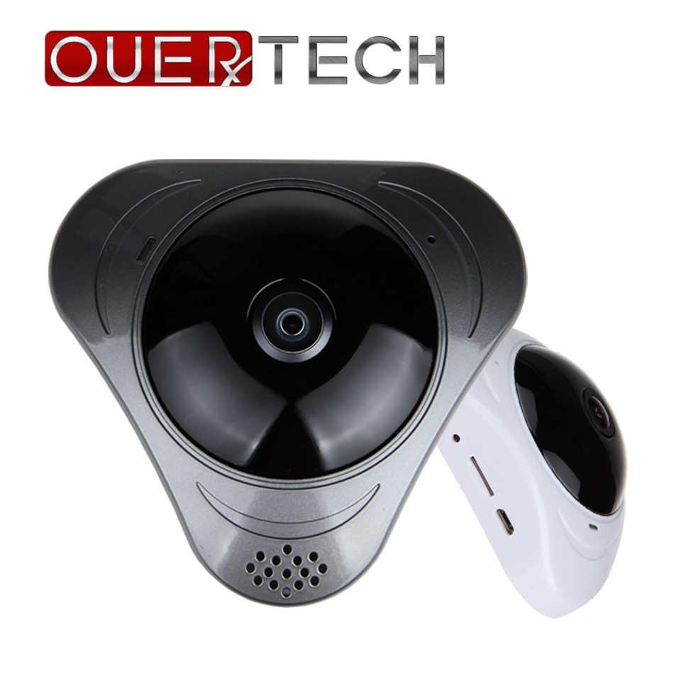 OUERTECH Full view wifi 360 градусов двухстороннее аудио Панорамное 1.3MP ночное видение Беспроводная интеллектуальная ip-камера поддержка 128g YOOSEE
