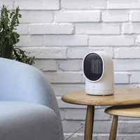 220V Mini Electric Portable Electric Fan Heater 2 Color Available Energy Saving Fast Heating Head Shake Fan Heater EU/AU/UK Plug