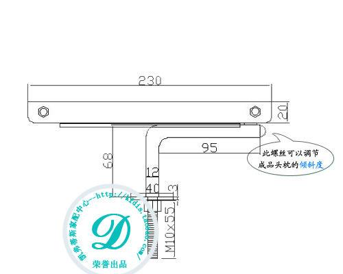Adjustable Angle valve manufacturers selling sofa headrest one lever support hardware accessories