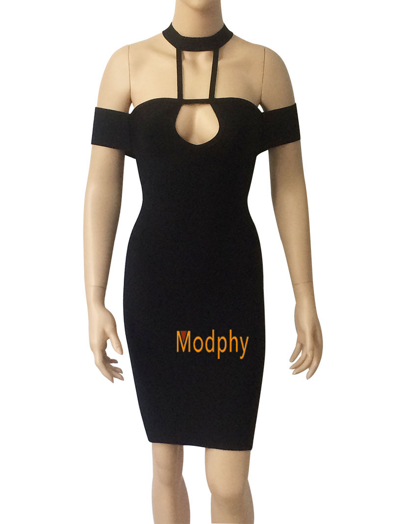 kaki Bandage Soirée Noir Modphy Creusent Kaki Dehors Mini Sexy Robes Dropshipping Halter Robe 2018 Rayonne Nouvelles Hl724 Femmes Noir qUFtFwnO