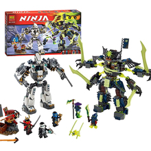 Bela Ninjagoes Titan Mech Battle Mech-enstein Building Block Set Zane Jay Nya Ghoultar  Bansha Minifigures Toy Fits legoe 70737