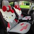 Девушки женщины милые мода высокое качество шелка льда hello kitty универсальный автомобиль на сиденья набор
