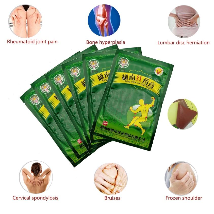 48pcs Pain Relief Vietnam Red Tiger Balm Plaster Treatment Medical Arthritis Pain Stiff Shoulder Joint Patch Relief Rheumatoid