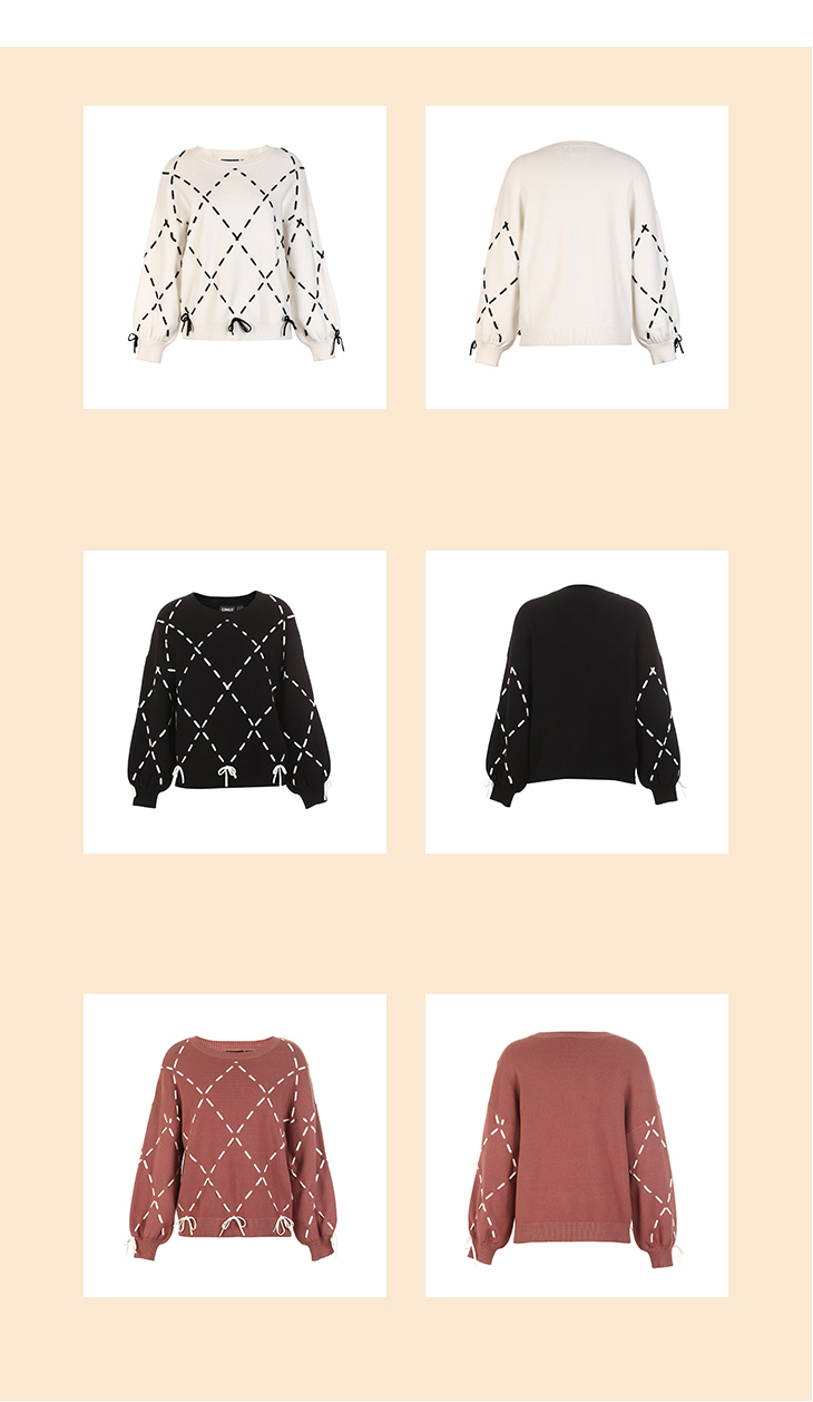 Sexy And Refined Womens Winter Youth New Elegant Loose Rope Lace Knit Sweater Trendy Diamond Lattice Tie-up Classic Design Show 26