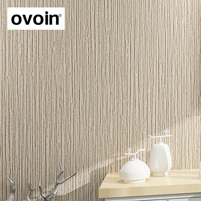 Gill Ribbed Plain Solid Color Wall Paper Vinyl Natural Faux Grcloth Wallpaper Bedroom Hotel Background Decor