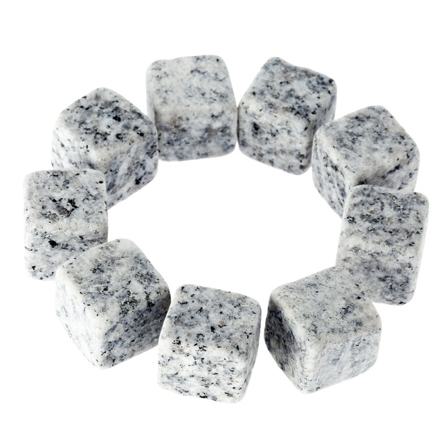 Whiskey Granite Stones 9 Pcs Set