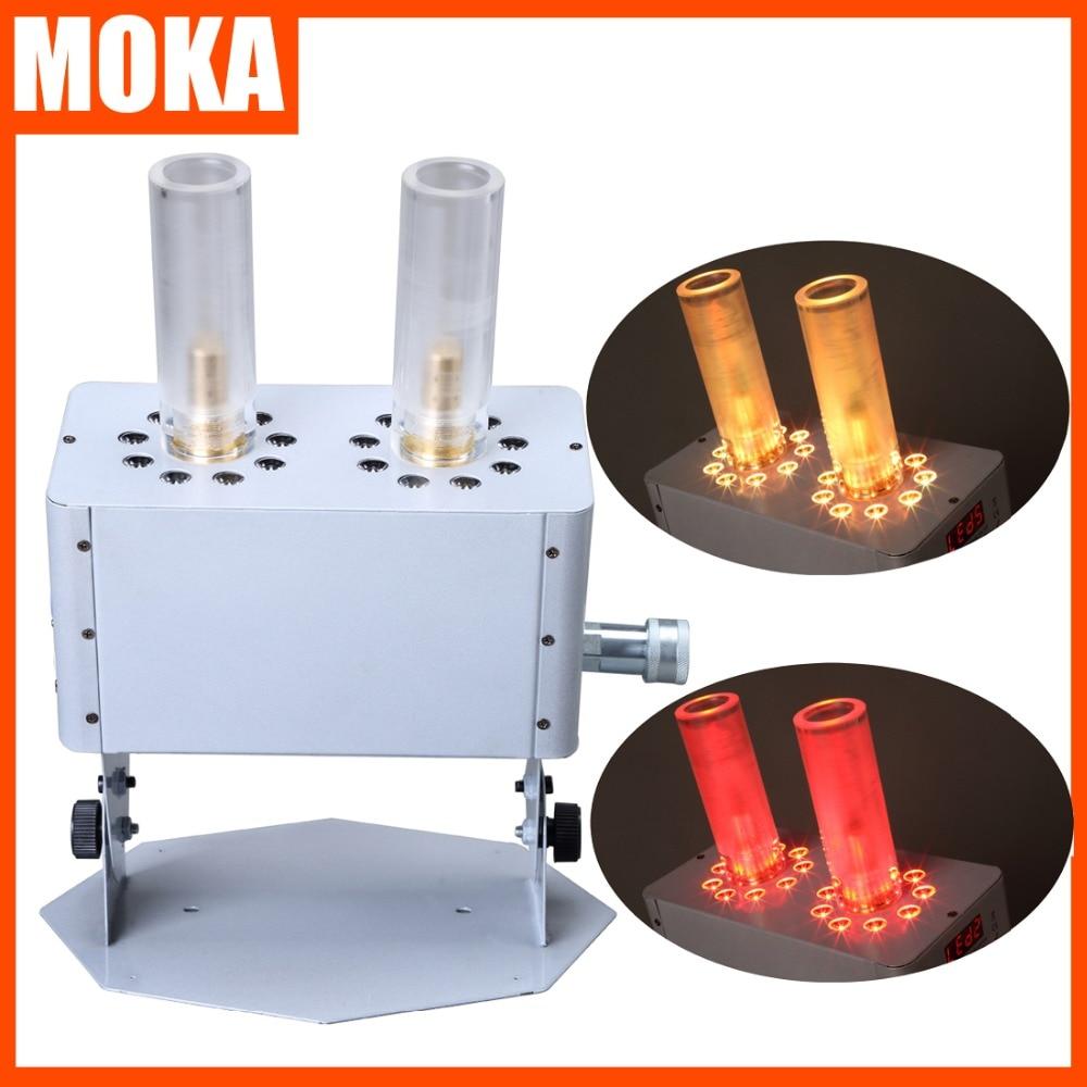 2 Pcs/lot double-baril LED CO2 Jet Machine 18x3 w rvb 3 en 1 LED CO2 Jet Machine blanc boîtier Co2 Jet stade effet spécial