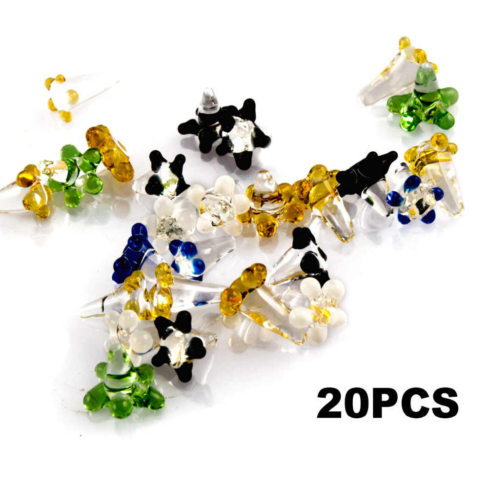 Formax420 20pcs/50pcs Daisy Style Flower Glass Screen for Pipes Assorted  Colors