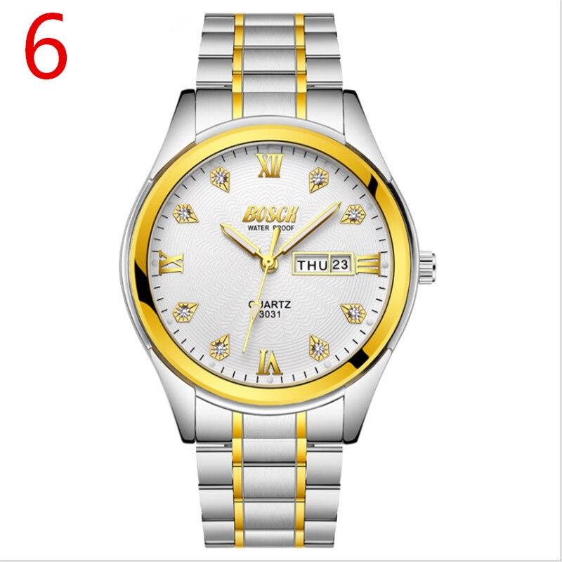 New men's business quartz watch in 2018, simple and fashionable.83 new fashionable men business silver belt gear quartz watch