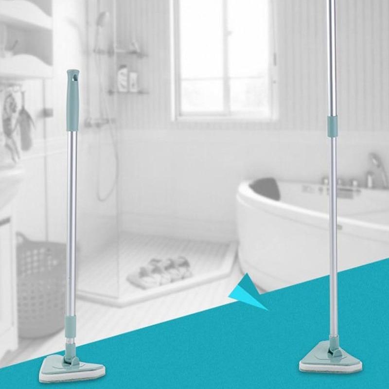 Retractable long handle decontamination bathtub brush triangular ...