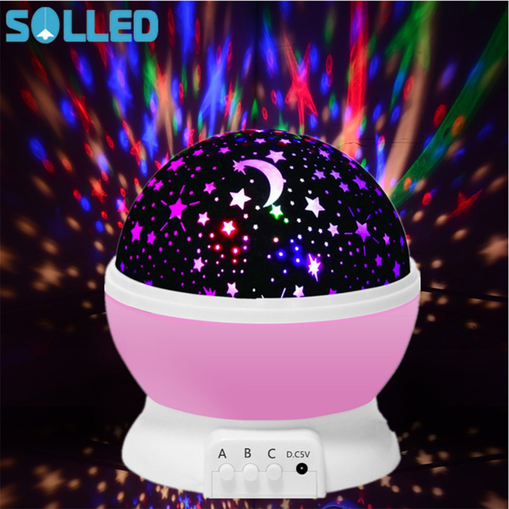 360 Rotating Galaxy Night Light Romantic Cosmos Star Moon Sky Projector Relaxing Lamp Bedroom Lamp for Children Baby relaxing healing moon lamp with white 6 led light 4xaa 2xaaa