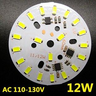 8 W 9 W 11 W 12 W lumière LED panneau SMD 5730 IC pilote PCB, tension d'entrée AC110V-130V, pas besoin de pilote plaque d'aluminium. Livraison Gratuite.