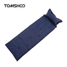 TOMSHOO Ultralight Outdoor Air Mattress Moistureproof Inflatable Mat With Pillow Camping Bed Tent Sleeping Pad