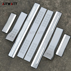 AITWATT For Ford Fiesta 2009-2014 Car styling Stainless Steel Car Door Sill Scuff Plate Guard Sills Covers