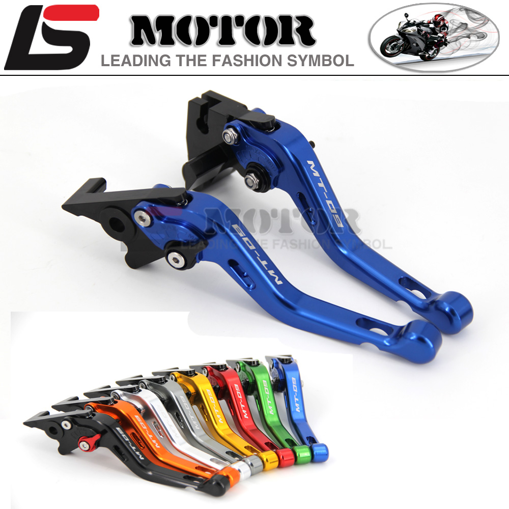 ФОТО For YAMAHA MT 09 MT-09 Tracer 2014-2015 2016 Motorcycle Accessories Short Brake Clutch Levers LOGO MT-09