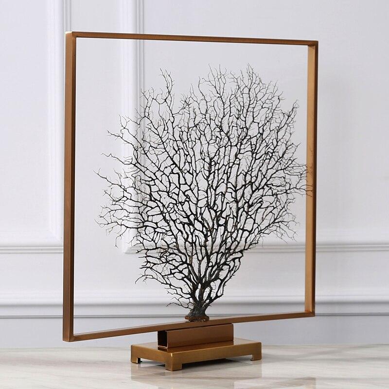Новая классическая гостиная ТВ кабинет офисные аксессуары Увядшие ветви модель вход море дерево украшения украшение дома - 4