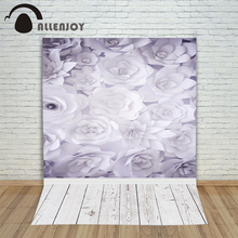 Allenjoy photo background White gray bloom flower wood baby backgrounds for photo studio photographic camera