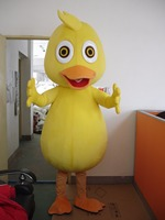 Yellow Duck Mascot Costume Cartoon Character Mascota Outfit Suit Free Shipping for Halloween party event