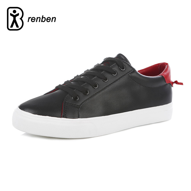 RenBen 2018 Leather Casual Shoes Men Waliking Fashion Shoes For Men Breathable Durable Rubber Flats Male Shoes zapatos hombre 2017 new spring imported leather men s shoes white eather shoes breathable sneaker fashion men casual shoes