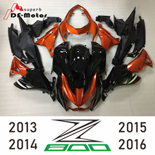Complete Injection Fairings For Kawasaki Z800 Year 2013 2014 2015 2016 Gloss Black Orange New Arrival ABS Motorcycle Bodywork