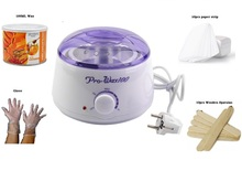 Depilatory Waxing Kit including Round Wax Heater
