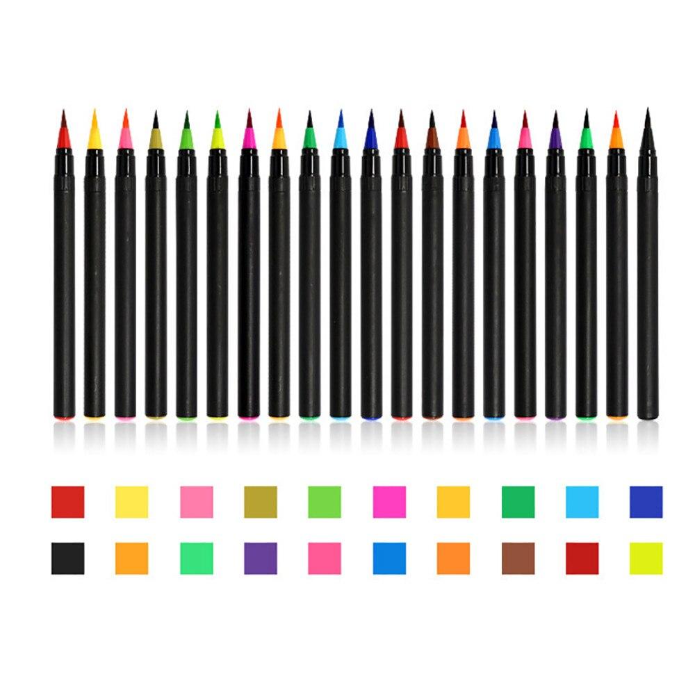 20 Colors Art Oil Watercolor Drawing Painting Brush Sketch Manga Pen Set