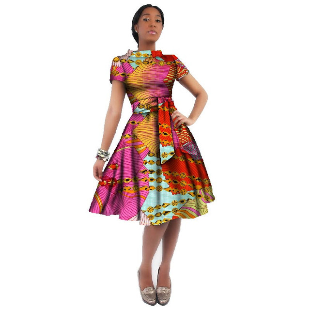 African Dresses For Women African Wax Print Dresses Dashiki Plus Size  Africa Clothing for Women Dress Party African Clothes 2019 c85f4ef047ae