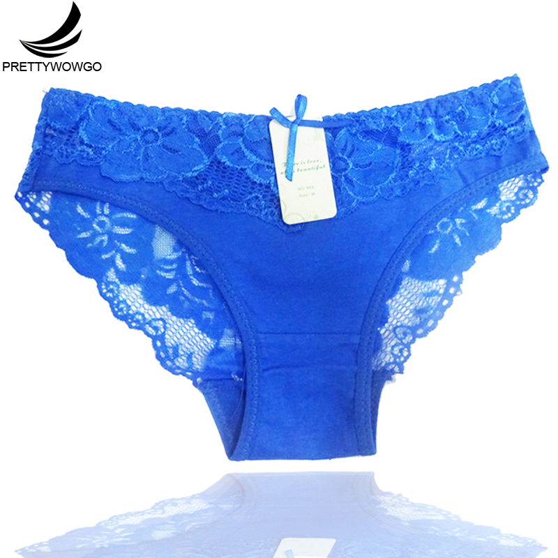 Prettywowgo New Arrival Women Underwear 2019 Sexy Lace Transparent Women's Cotton Briefs   Panties   886