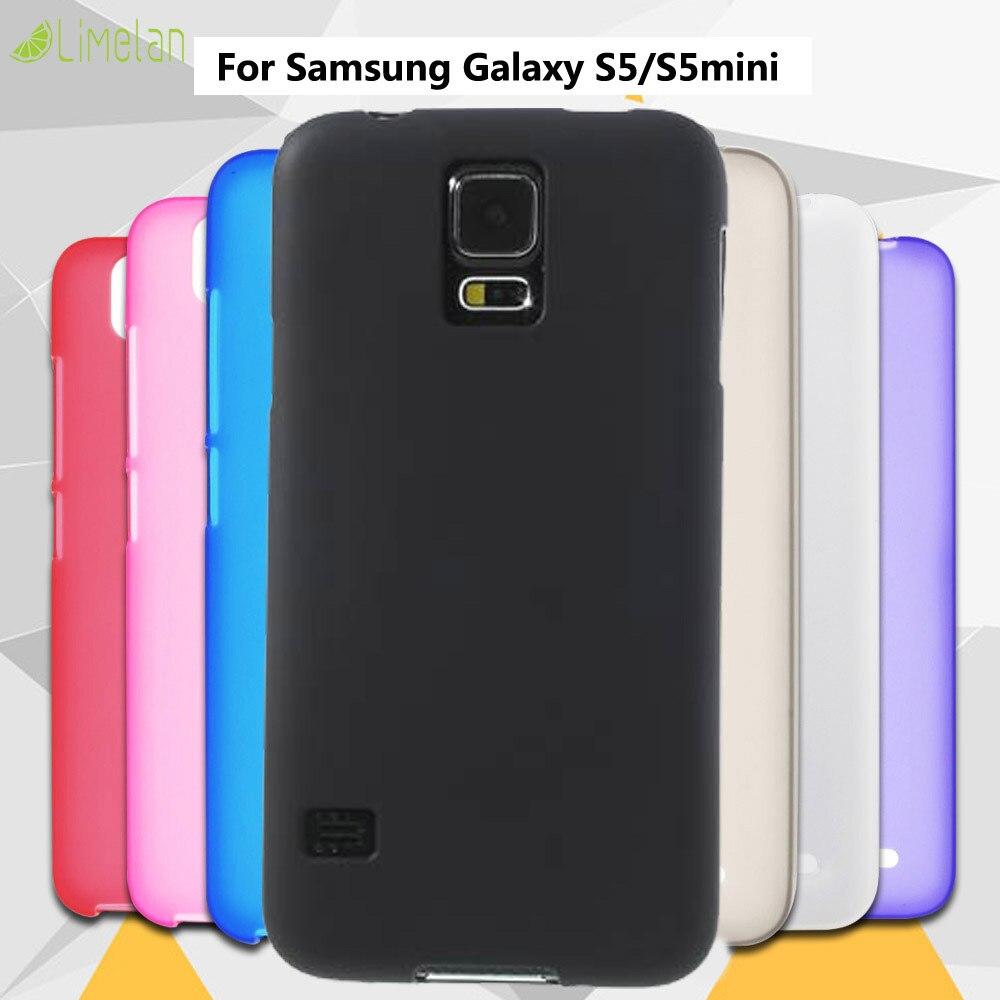 Limelan Cover Back-Case Black Silicon Samsung Galaxy G900/s5mini-G800 Skin-Phone Matte