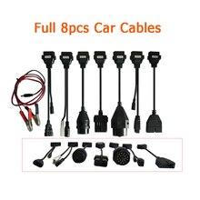 A + qaulity obd obd2 adaptador conversor cabo ferramenta de diagnóstico tcs cabos do carro para delphis pro mais conjunto completo 8 peças