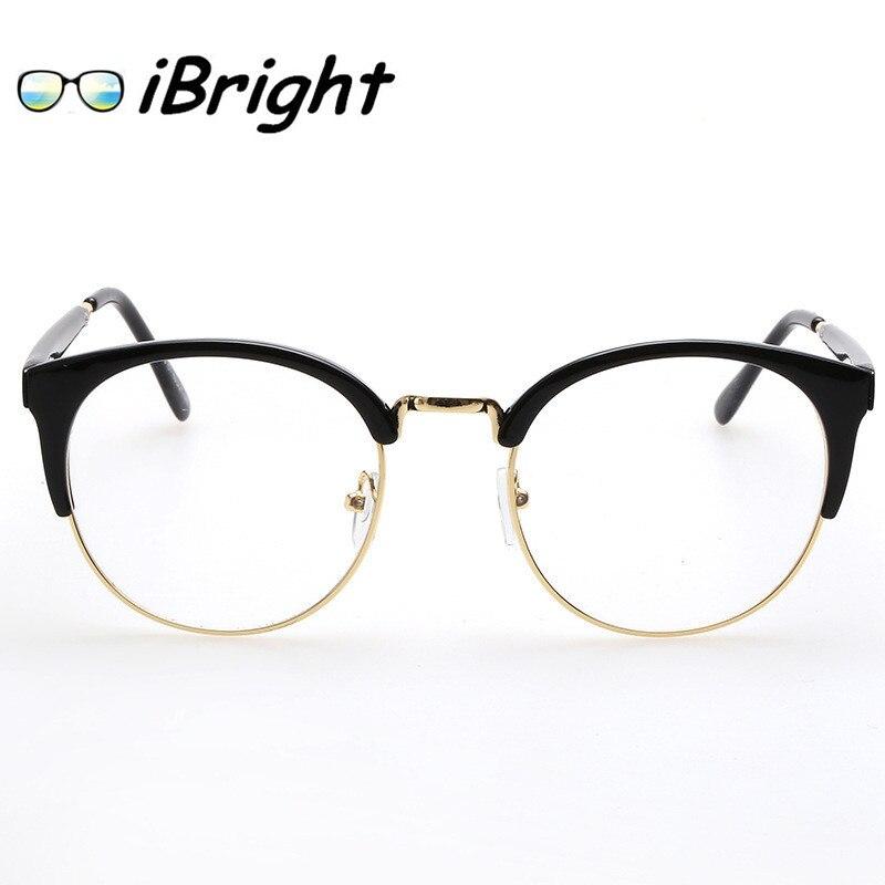 38c5b118ed P8110 moda gafas monturas De gafas para mujer para hombre monturas De gafas  vidrios llanos Semi sin montura estilo Vintage hombres gafas De Sol en De  los ...