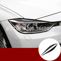 Carbon Fiber Headlight Eye Lid Eyebrow Cover For BMW 3 Series F30 F34 2013 2017 2pcs