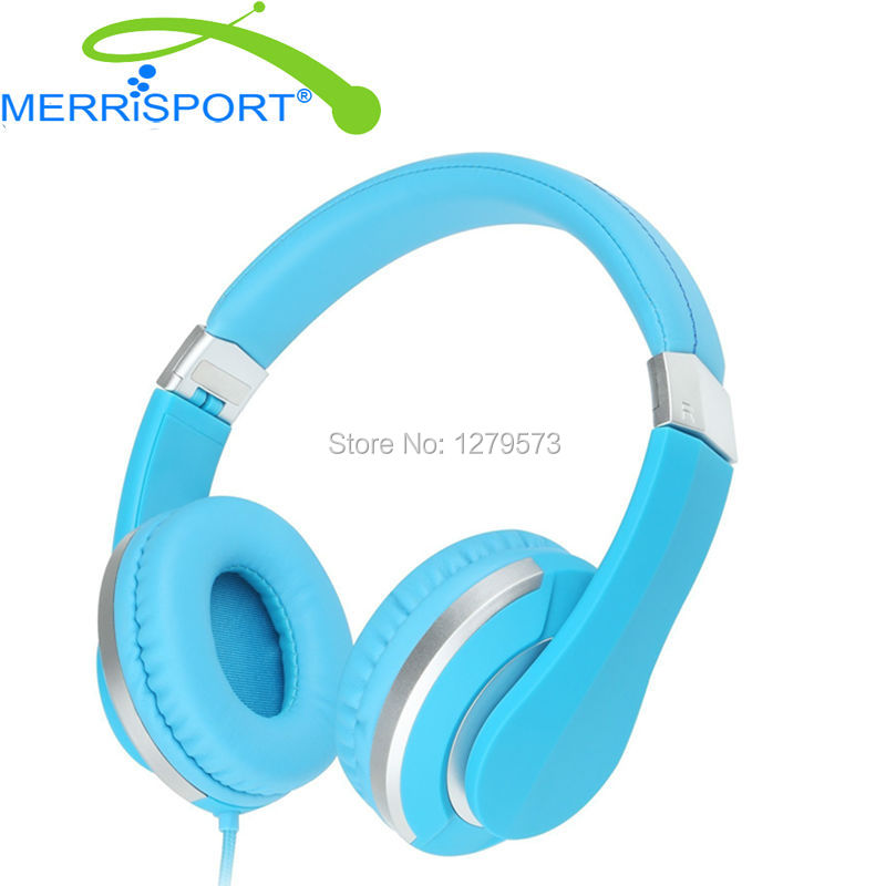MERRISPORT Lightweight Foldable Wired Girls Headphones Kids Headsets With Microphone and Remote Control for Computer Phone Mp3/4 merrisport lightweight foldable wired girls headphones kids headsets with microphone and remote control for computer phone mp3 4