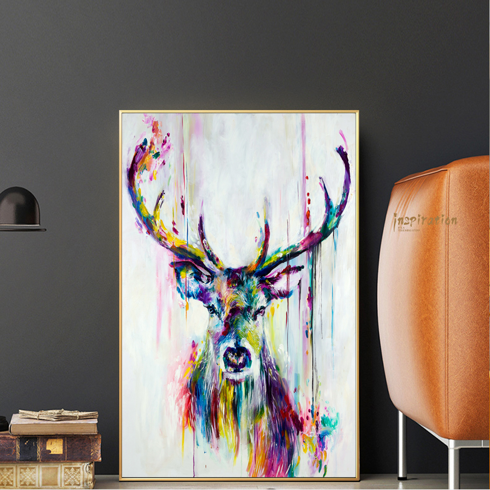 Watercolor Animals Pop Wall Art Canvas Prints And Posters