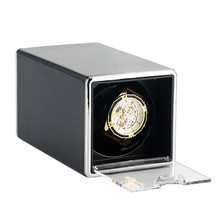 high end p0078 le leather 2 seats automatic watch winder for gift Rectangle Watch Winder Automatic Watch Winding Storage Boxes Black Paint/Leather Shaker Case New Arrival 2019