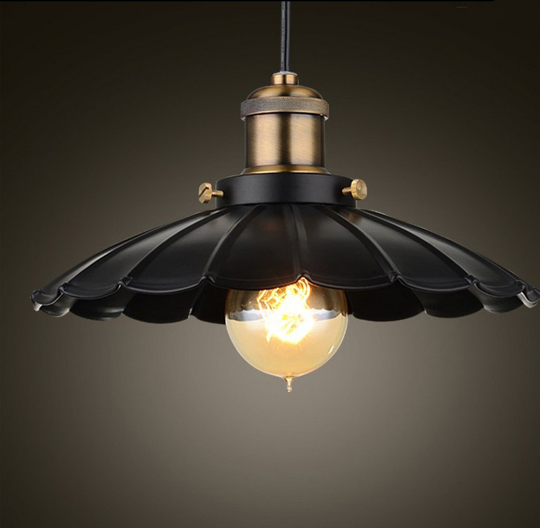 Brief Simple Vintage Loft Iron Pendant Lights 25cm. Retro