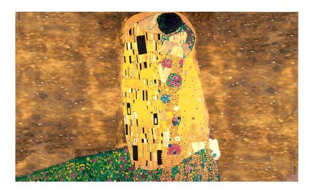 Il bacio di gustav klimt custom made mosaico in vetro piastrella