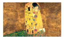 the kiss of Gustav Klimt,Custom made glass mosaic tile wall mural