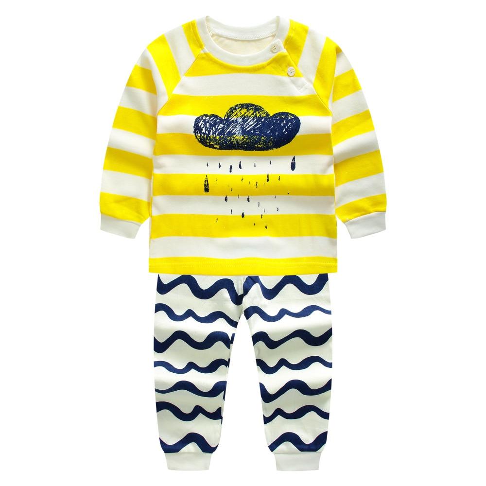 2016 Yeni sonbahar Erkek Bebek Giyim Seti karikatür Bebek Yenidoğan bebek Kız Giysileri çocuk giysileri çocuklar uzun kollu t shirt boys