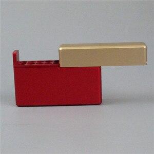 Image 4 - Black Gold Silver 18 Holes Aluminum Storeage Box For IQOS 18PCS Cigarette Holder for IQOS Cigarette Cartridge Case