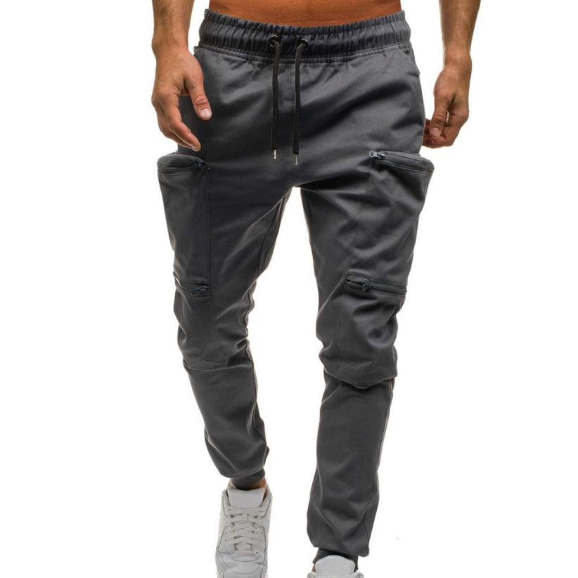 attractivefashion various kinds of buying new US $11.05 16% OFF High Quality Jogger Pants Men Fitness Men's Drawstring  Classic Joggers Pants Zipper Pockets Sport Sweat Pants-in Cargo Pants from  ...