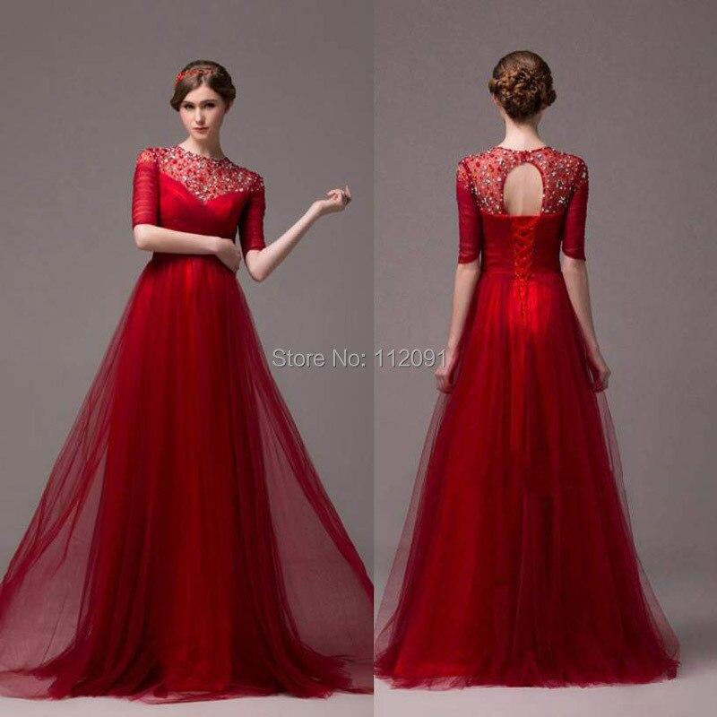 Платья красные длинные фото