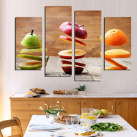 4Piece Modern Wall Art Canvas Cuadros Oil Painting Fruits Home Decorative Art Picture Painting Prints On Canvas No Frame F18874