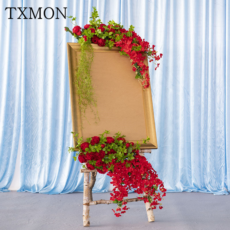 Simulation flower road sign wooden sign artificial flowers for Wedding decoration exhibition New Year's Day teacher decoration