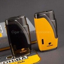 COHIBA Metall Winddicht Zwei Jet Flame Butangas Zigarre/Zigarettenanzünder