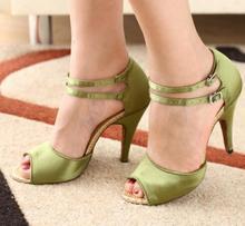 HXYOO Women Latin Dance Shoes Heel 4 5cm 8 5cm Customized Color Satin Ballroom Salsa Dance