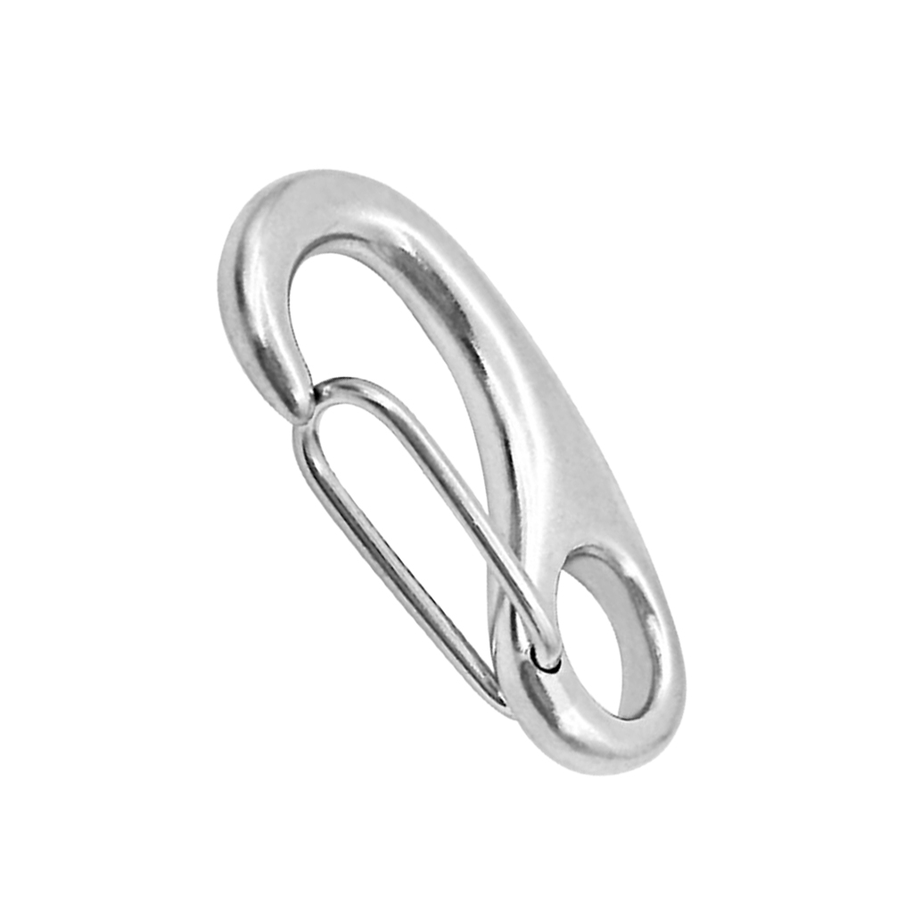 Image 4 - 2 Inch Silver Spring Snap Hook Stainless Steel Clip Keychain Portable Hook Durable Multifunctional Marine Hardware 50 x 18 mm-in Marine Hardware from Automobiles & Motorcycles