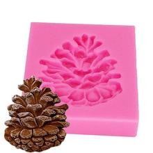 Piñones de cono de silicona Fandont molde de caramelo de chocolate molde Gumpaste torta de Navidad herramientas de decoración T1188
